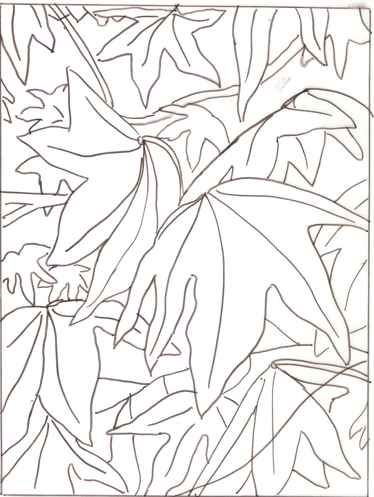 1204x1600 Arty Crafty Studio Autumn Leaves (Liquid Amber) In Pastel