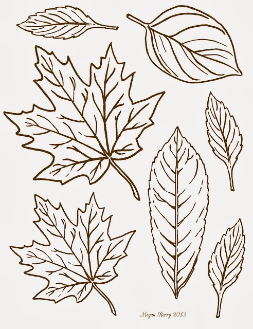 492x640 Free Printable ~ Clip Art Leaves By Megan Berry. Graphics Lilac
