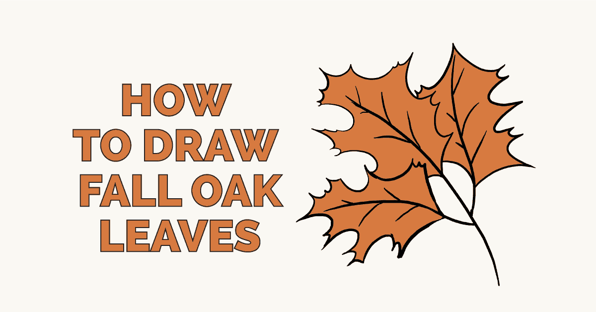 1200x628 How To Draw Fall Oak Leaves