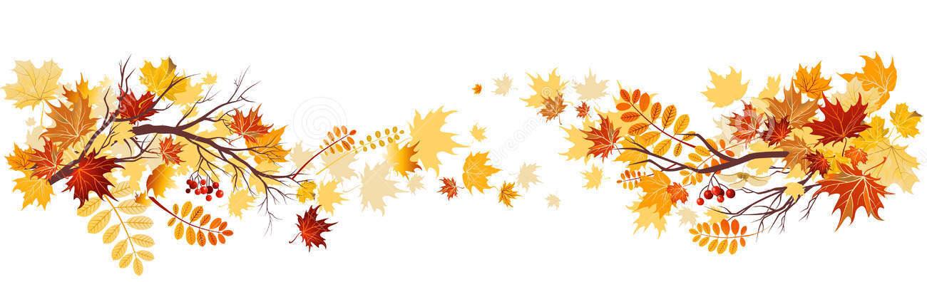 1300x396 Autumn Leaves Clipart Corner Border