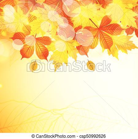 450x454 Autumn Leaves Background Vector Illustration