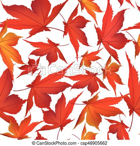 450x470 Autumn Leaves On White Background. Fall Nature Floral Clip Art