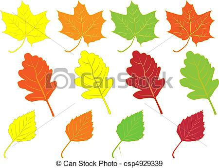450x345 Collection Of Colorful Autumn Leaves Isolated On White Eps
