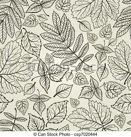 450x470 Seamless Autumn Leaves Background. Seamless Vector Grunge Autumn