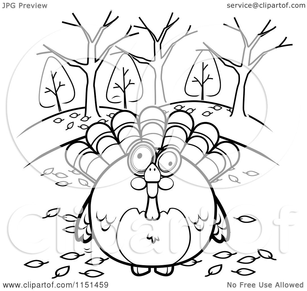 1080x1024 Cartoon Clipart Of A Black And White Turkey Bird Surrounded By