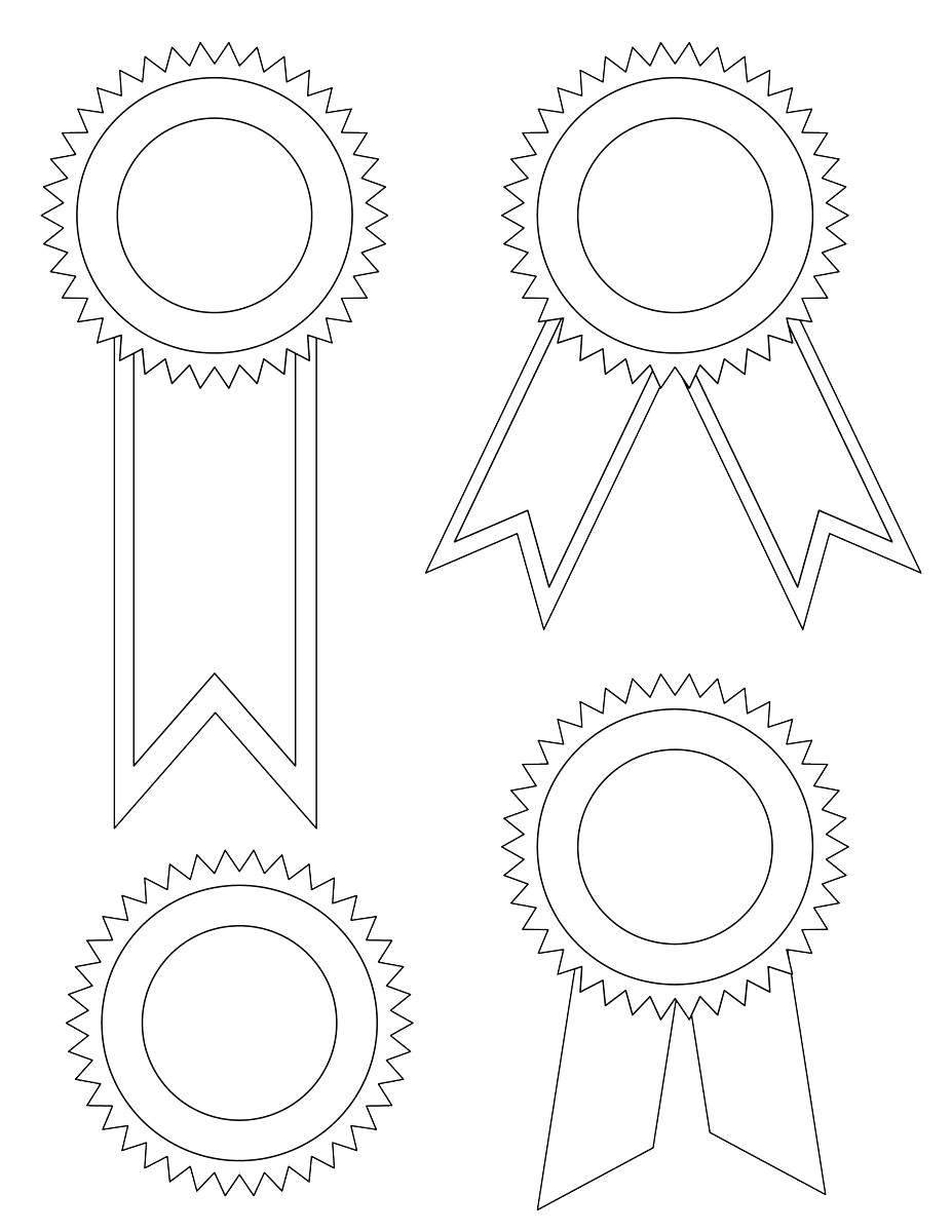 photo relating to Ribbon Template Printable named Award Ribbon Drawing at  Absolutely free for person