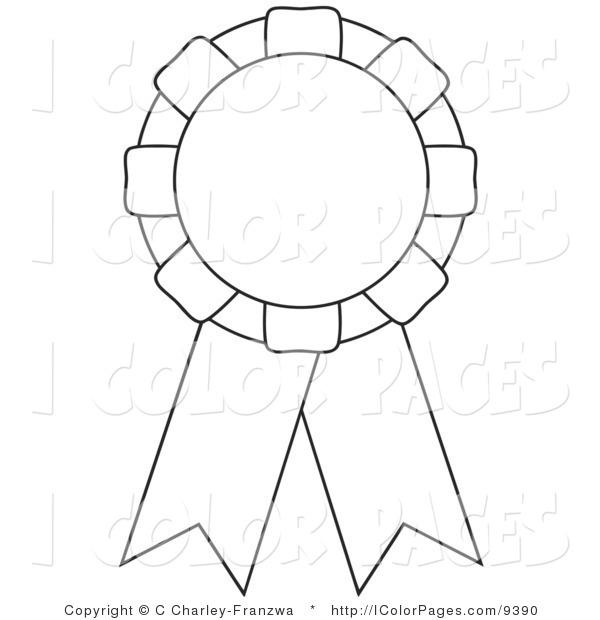 600x620 Award Ribbons Coloring Pages Award Ribbon Printable