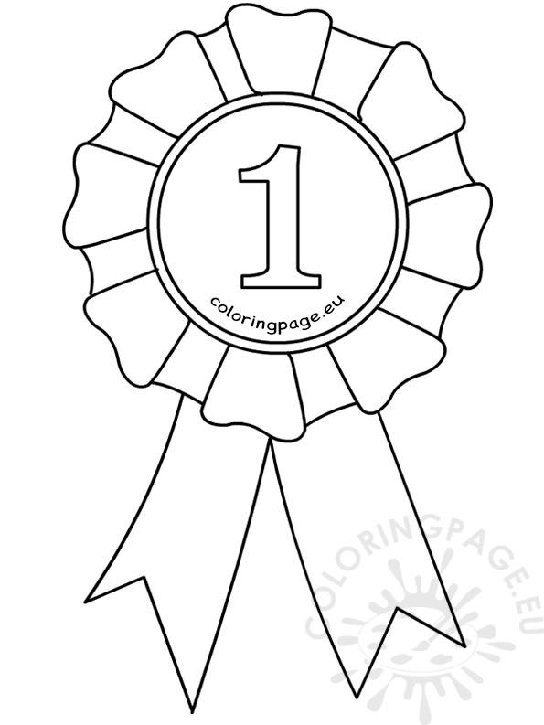 595x793 Award Ribbons Coloring Pages Award Ribbon Template Coloring Page