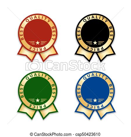450x470 Award Ribbon The Best Set. Ribbon Award Best Price Labels