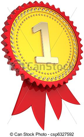 288x470 First Place Golden Award Ribbon. Award Ribbon Golden First Place