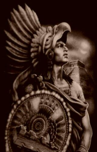 320x498 Collection Of Aztec Eagle Warrior Drawing High Quality Free