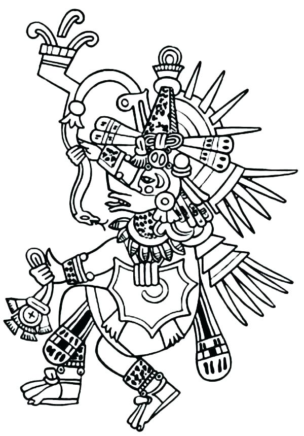 600x859 Aztec Coloring Pages Pdf Coloring Pages Glamorous Coloring Pages
