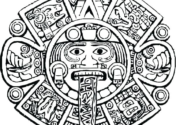 600x425 Aztec Coloring Pages Stress Relief Coloring Pages Free Aztec Print