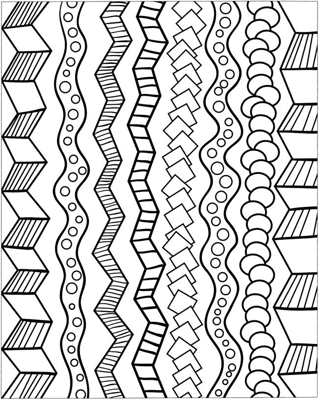 650x814 Cool Pattern Drawings Cool Pattern Coloring Pages Abstract Color
