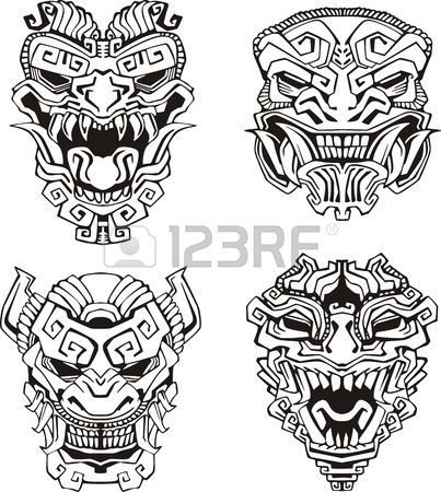 403x450 Dibujos Tatuajes Tribales Tolteca