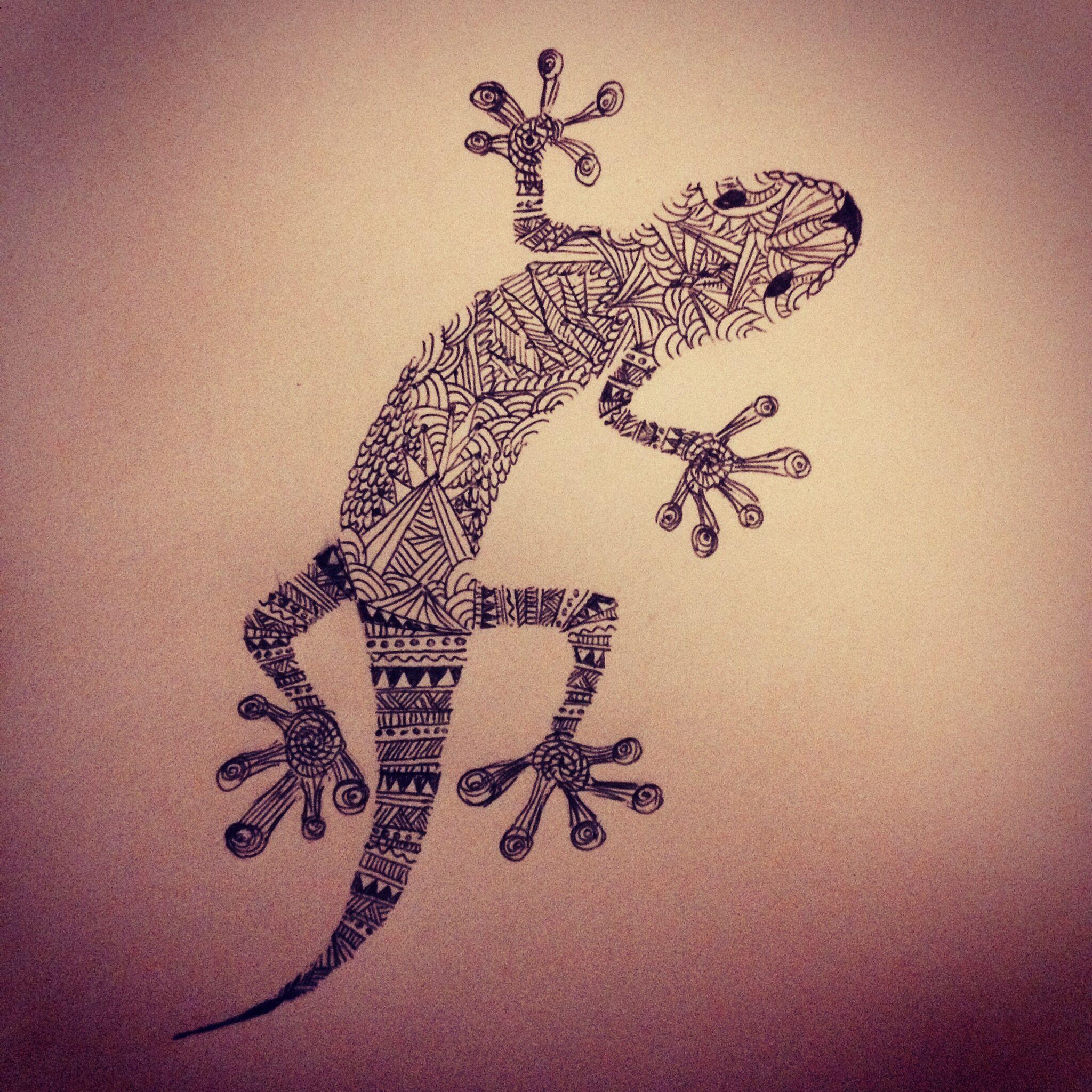 2048x2048 Aztec Print Salamander Drawing I Made Texture Zentangle