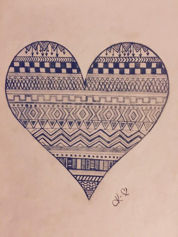 610x813 My Aztec Print Heart
