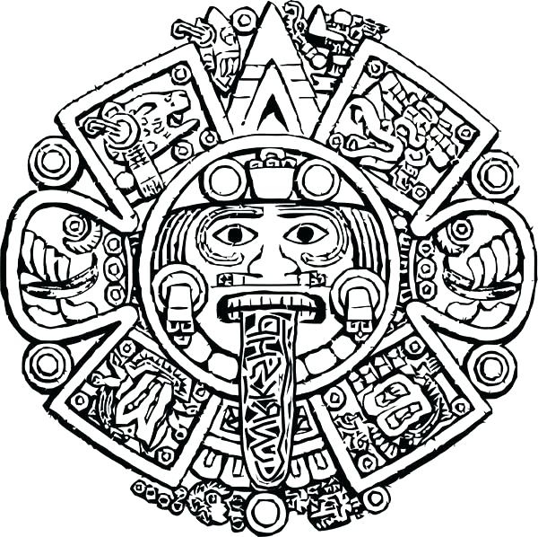 600x598 Aztec Coloring Pages Adult Coloring Pages Patterns Printable Aztec