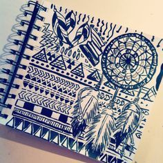 236x236 Aztec Style Drawings