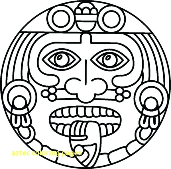 600x595 Aztec Coloring Pages Awesome Coloring Pages Print Coloring Aztec