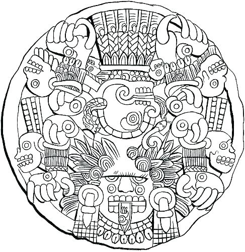 487x500 Aztec Coloring Pages Coloring Pages Awesome Coloring Pages Print