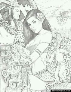 236x305 Aztec Princess Chicano Pride Chicano