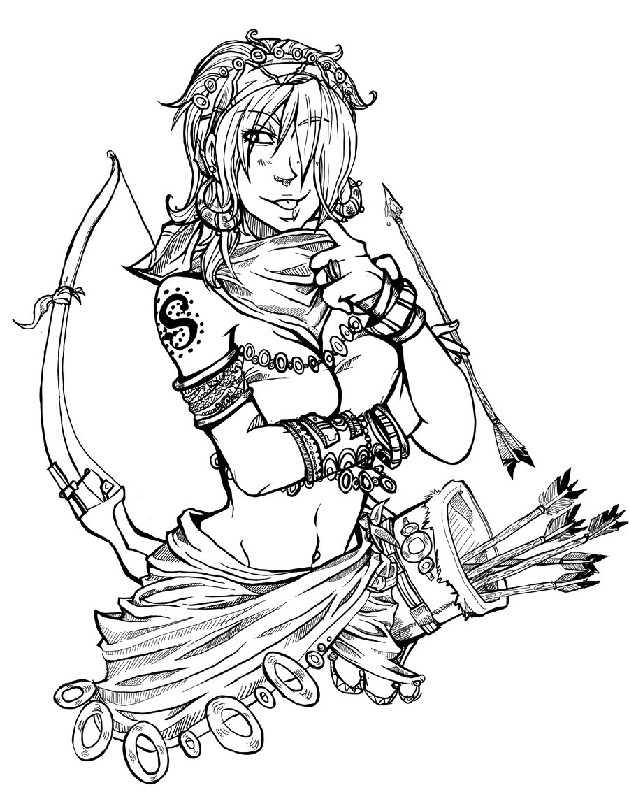 900x1153 Miss Archer By Syrahde