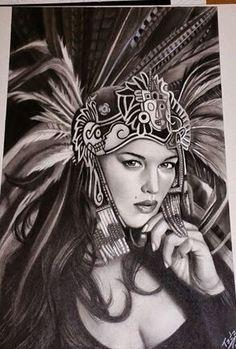 236x349 Aztec Nahua Mexica Warrior Princess The Wall