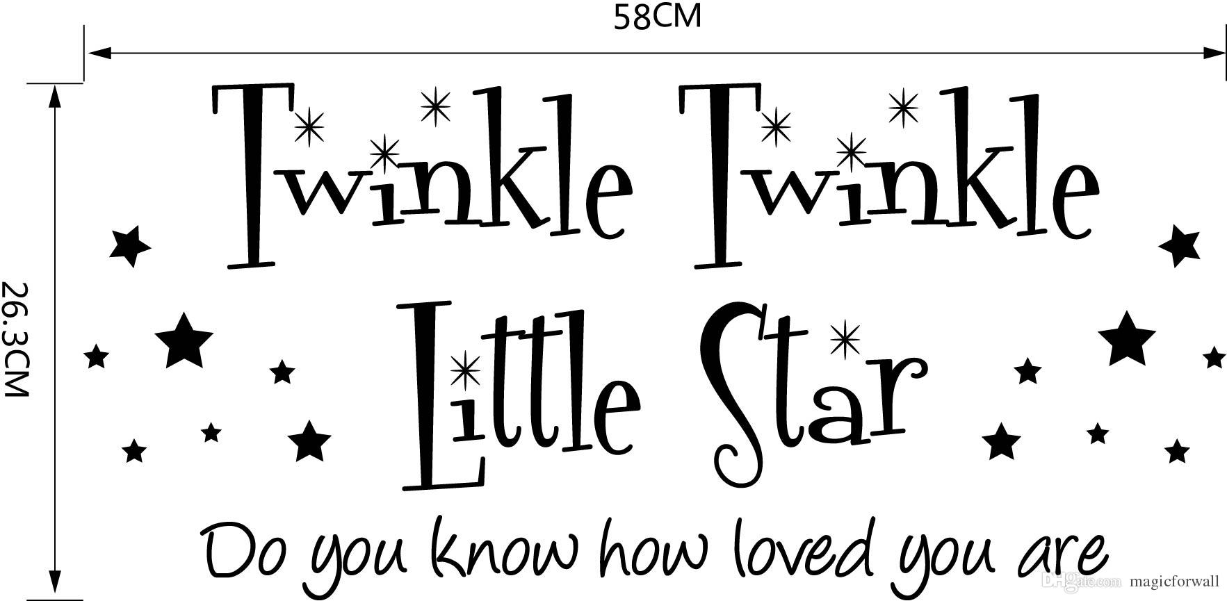 1765x865 Twinkle Twinkle Little Star Wall Quote Baby Kids Room Decoration
