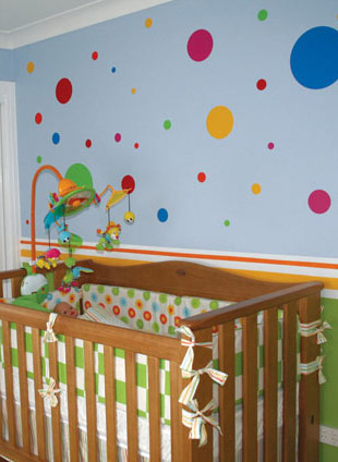 310x424 Diy Polka Dot Wall Decor