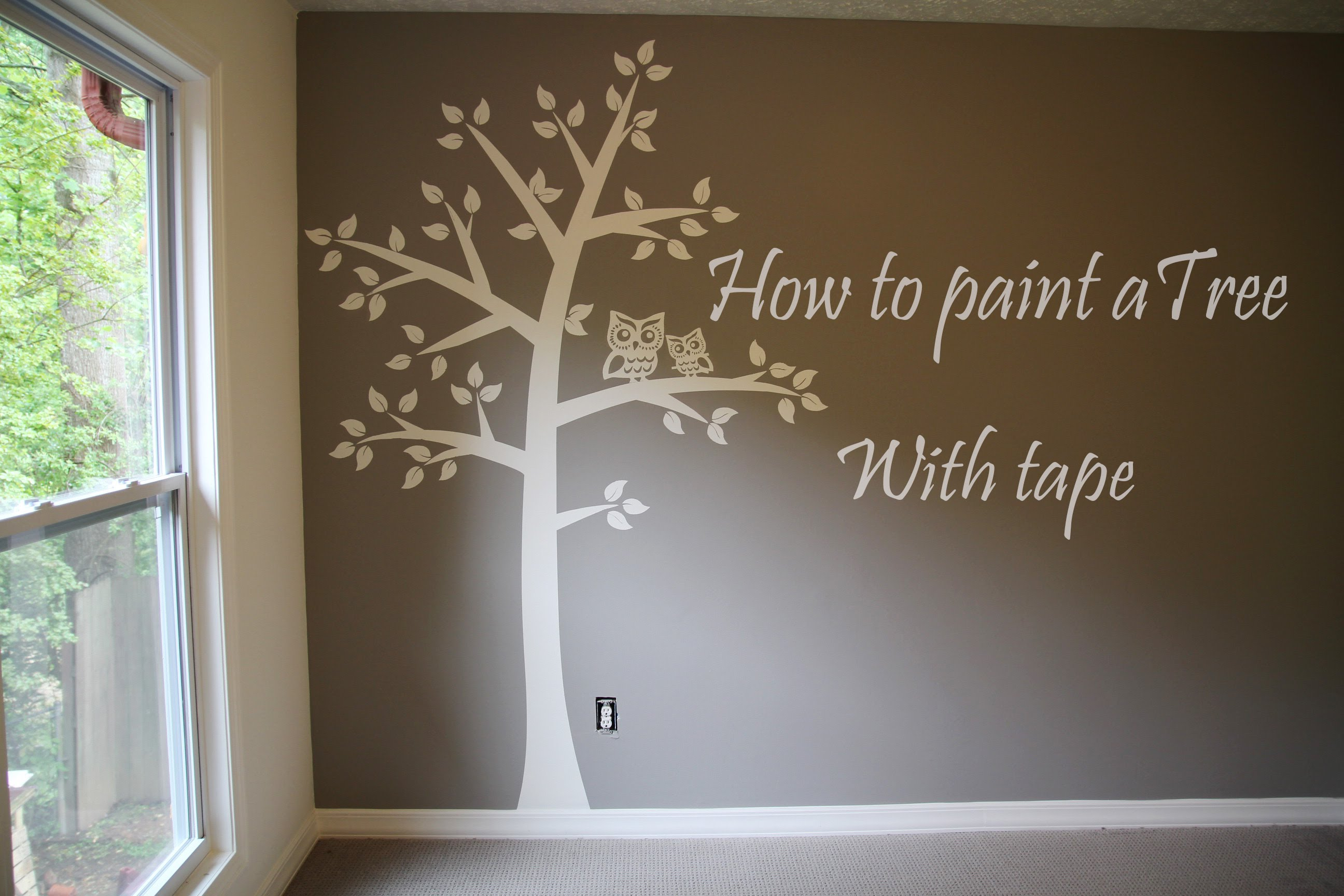 2592x1728 How To Paint Tree On Wall 4 Baby Room. Easy