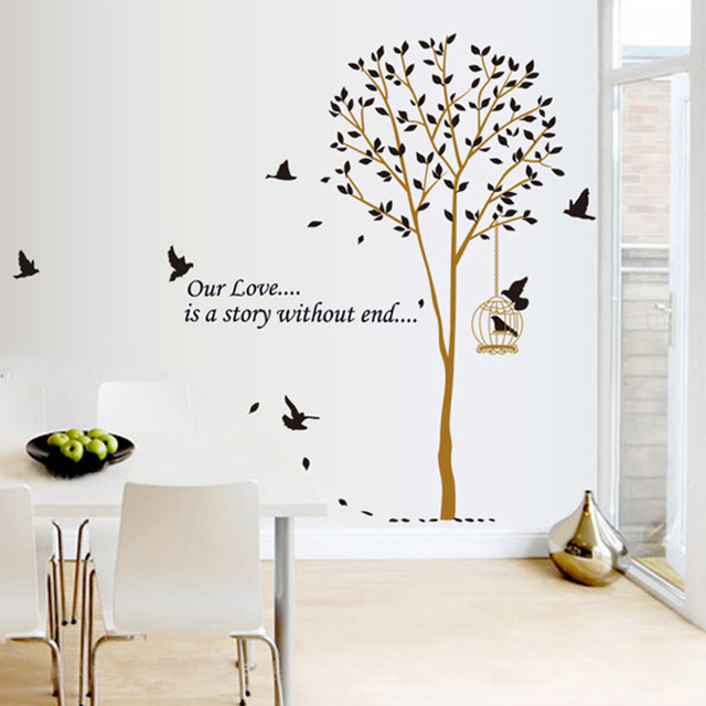 640x640 Bird And Tree Diy Modern Removable Wall Sticker For Kid Rooms