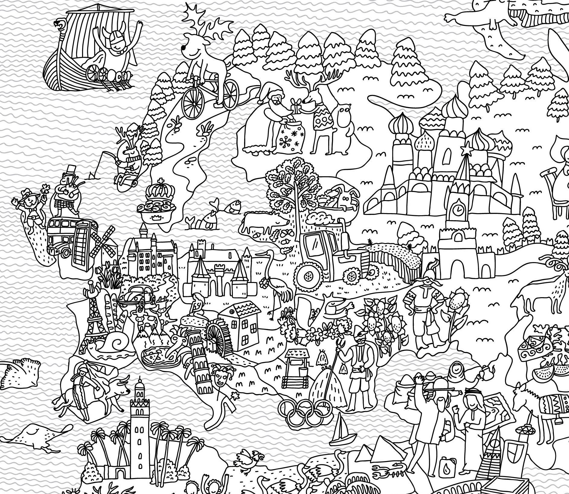 1884x1634 Coloring Map World Map Coloring Page