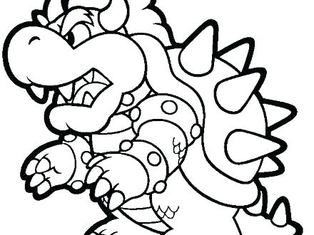 440x330 Coloring Page Super Coloring Pages Images Vs Baby Bowser Coloring