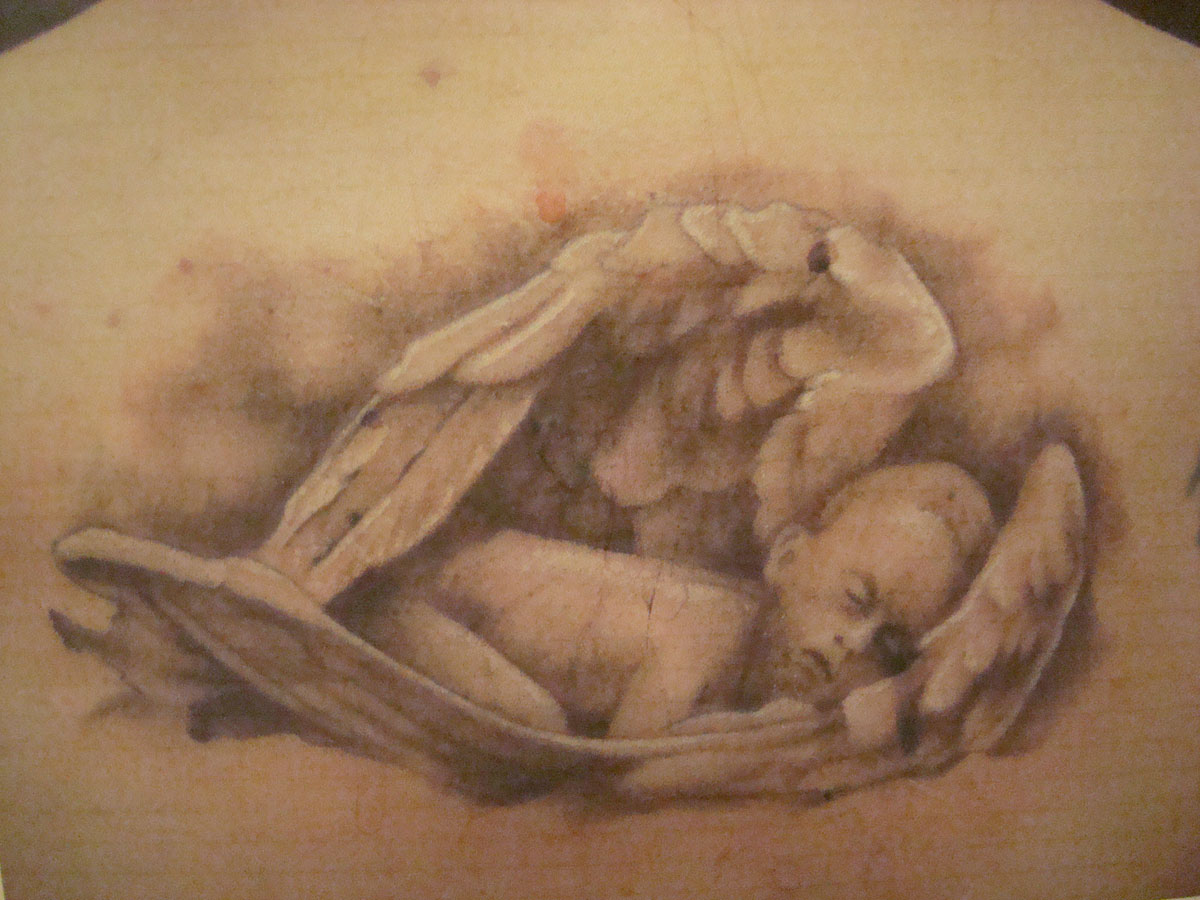 Baby With Angel Wings Drawing At Getdrawingscom Free For