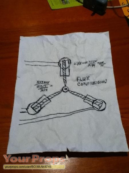 450x600 Back To The Future Doc Brown's Flux Capacitor Drawing Replica