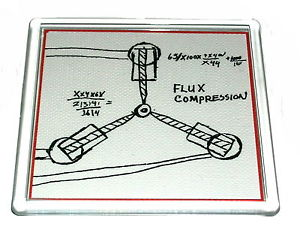 300x242 Back To The Future Flux Capacitor Drawing Prop Coaster 4 X 4