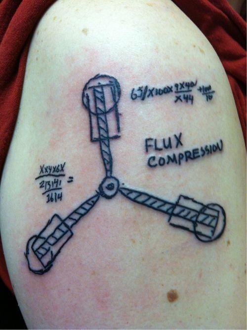 500x669 Back To The Future Flux Capacitor Tattoo Tattoo Ideas