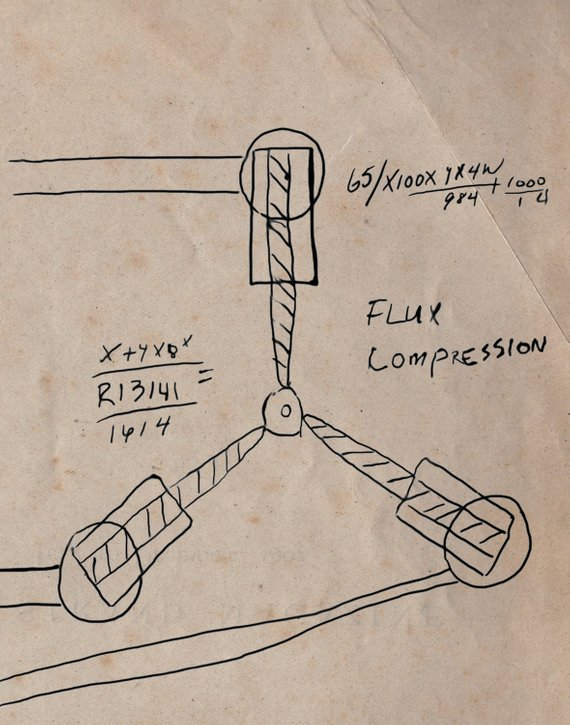 570x725 Flux Capacitor Drawing Doc Brown Back To The Future Flux