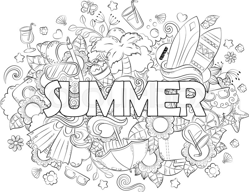 800x619 Doodle Hand Drawn Vector Illustration, Background, Texture