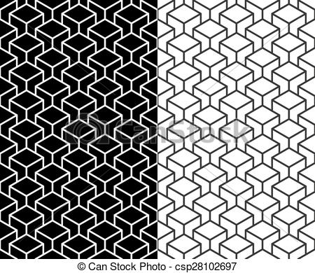 450x390 Isometric 3d Line Cube Pattern Background. Set Of Isometric 3d