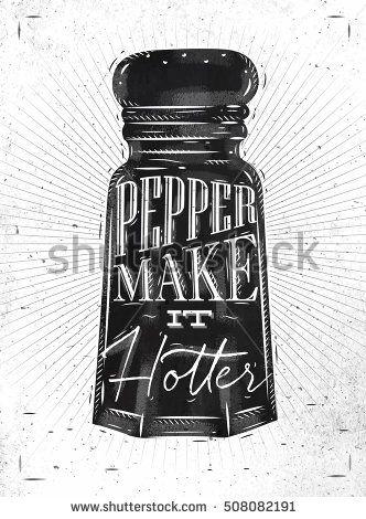 332x470 Poster Pepper Castor Lettering Pepper Make It Hotter Drawing