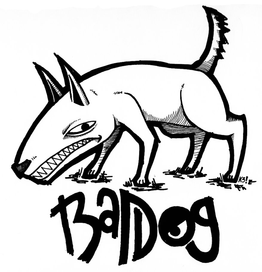 Bad Dog Drawing