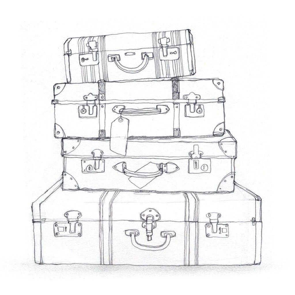 1024x1024 Luggage Clipart Drawn