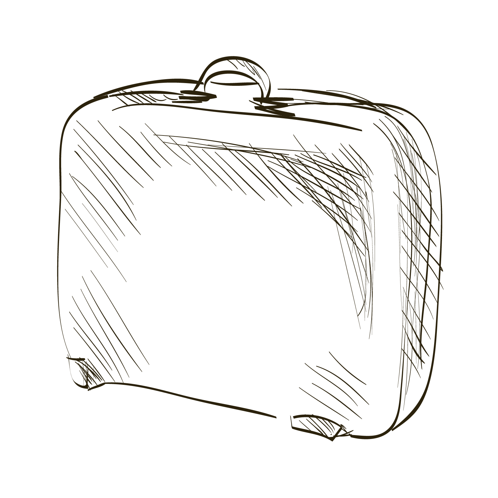 1654x1654 Paper Suitcase Drawing