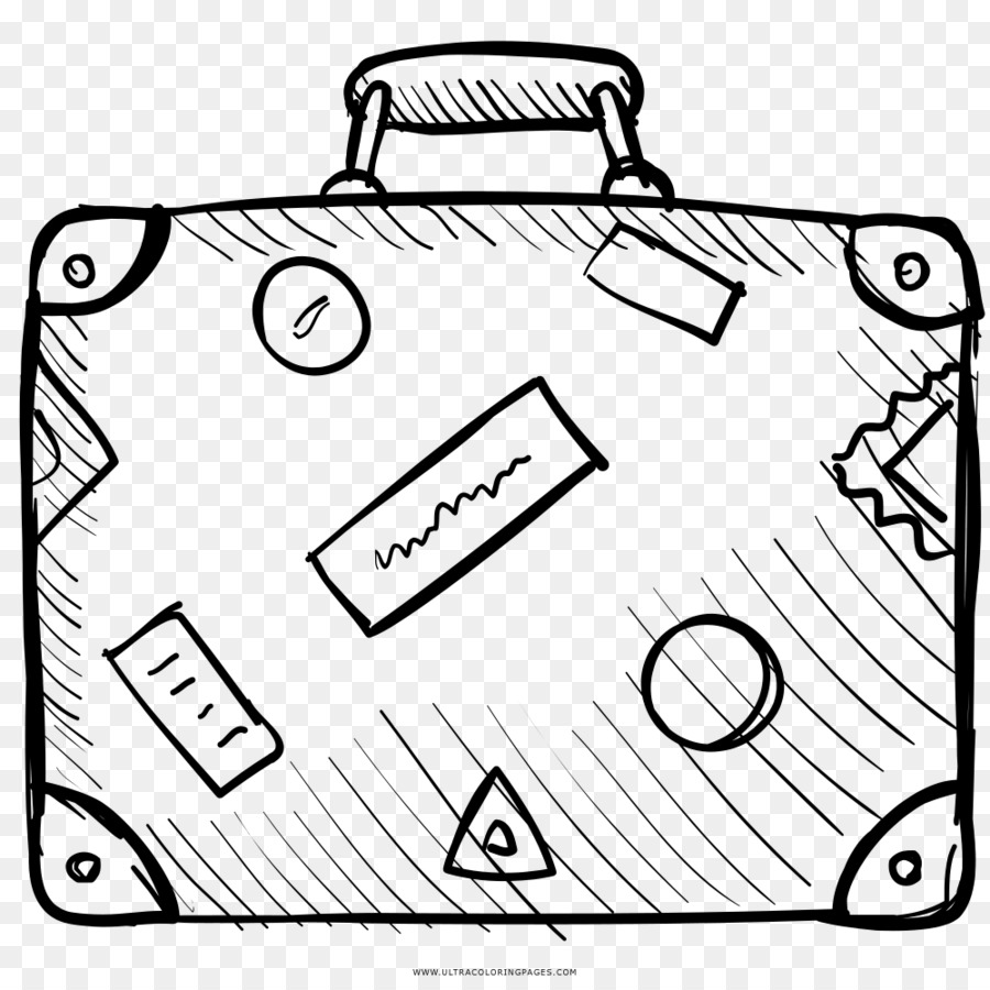 900x900 Suitcase Travel Coloring Book Drawing Baggage