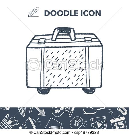 450x470 Doodle Travel Bags Vector Illustration