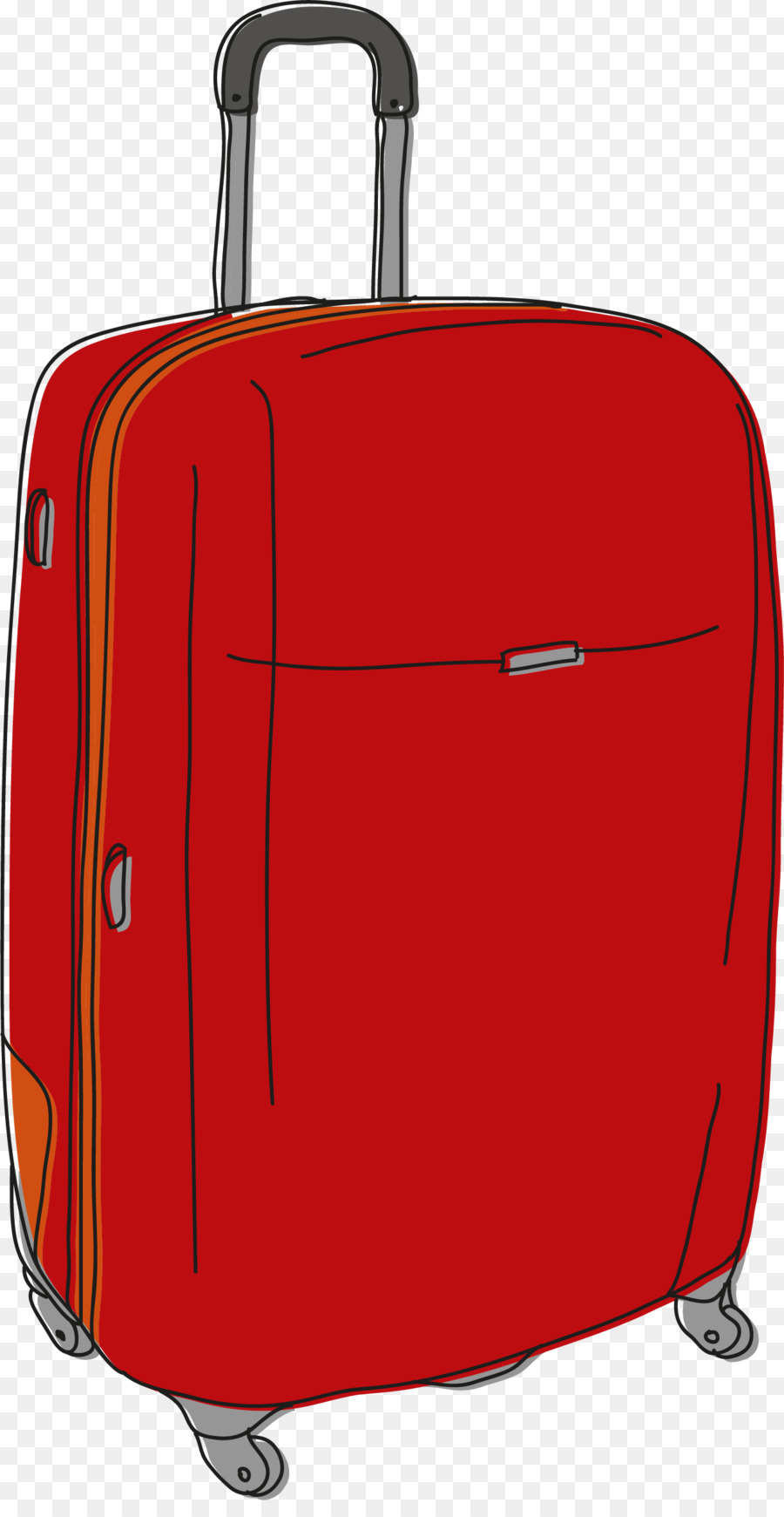 900x1740 Hand Luggage Suitcase Baggage Drawing