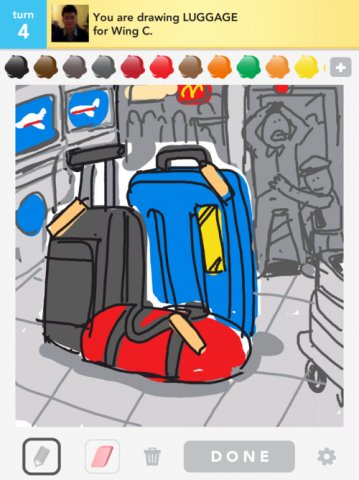 359x480 Luggage Drawings