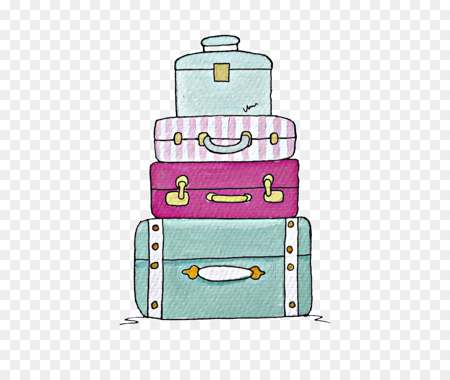 900x760 Suitcase Drawing Baggage Trunk Clip Art